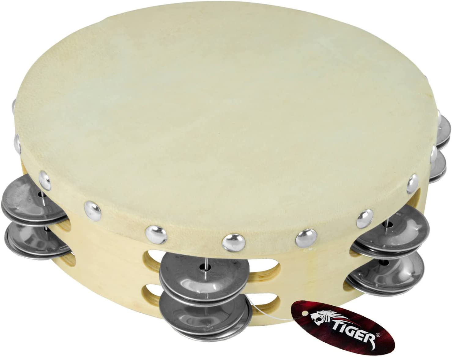 Tiger Music At the price 1 year warranty Tambourine TAM98-08 8-inch