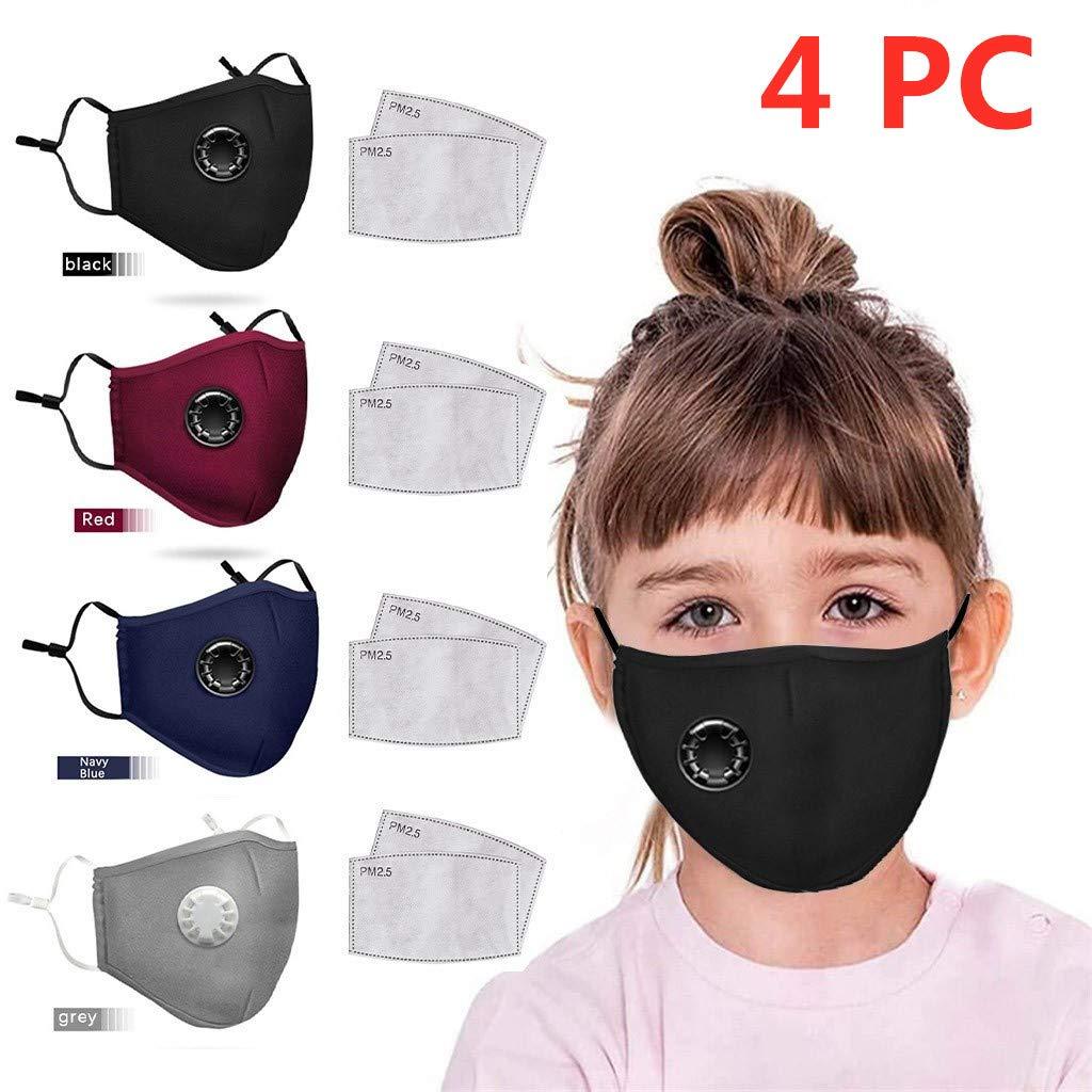 MaNMaNing Niños Protección 5 Capas 4 unidades Transpirables con Elástico para Los Oídos Algodón 20200721-MANING-CN4