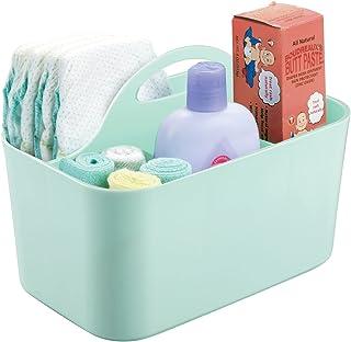 mDesign panier idéal pour ranger des flacons, lotions, savons ou jouets – rangement salle de bain en plastique – bac de ra...