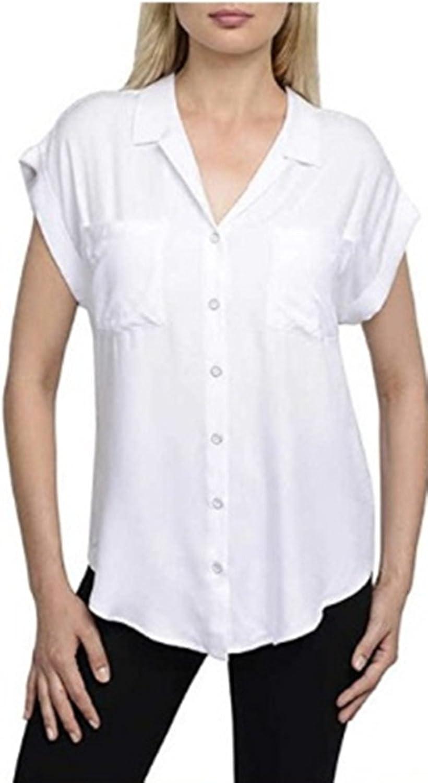 Jachs Girlfriend Women's Quinn Cap Sleeve Button Front Blouse