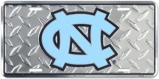 North Carolina Tar Heels Diamond License Plate Tin Sign 6 x 12in