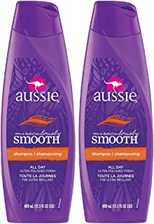 Kit com 2 Shampoos Aussie Miraculously Smooth 400ml