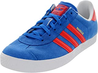 Gazelle II Blue White Suede Youth Trainers Size 6 UK