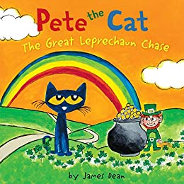 Pete the Cat: The Great Leprechaun Chase: Includes 12 St. Patrick's Day Cards, Fold-Out Poster, and Stickers! by [James Dean, Kimberly Dean]