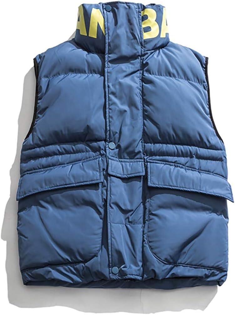 HXR Men's Winter Sleeveless Warm Retro Vest Vests (Color : A, Size : XL)