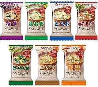 [アマノフーズ フリーズドライ 味噌汁] いつものみそ汁 7種類35食セット