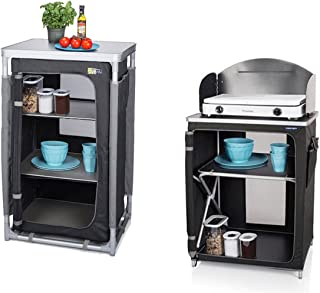 480 mm, 590 mm, 1040 mm, 420 mm, 570 mm, 80 mm 80 x 60 x 54-75 cm Camping cupboards Color Blanco CAMPART TRAVEL Tristar CU-0718