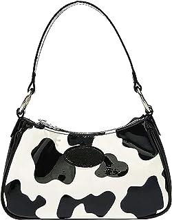 Allegorly Damen Schultertasche Damen Retro Geldbörse Schultertasche Handtaschen Handbags Umhängetasche Cow Pattern Girl Me...