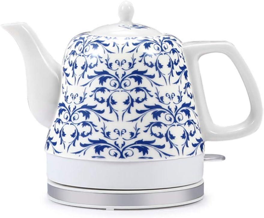 Electric Ceramic Cordless Kettle Teapot-Retro Jug 1000 Red Finally resale Super sale period limited start 1.0L