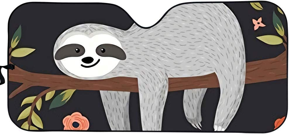 Cute Cartoon Sloth Max 67% OFF Car wholesale Sun Visor O Shade Window Front Keeps
