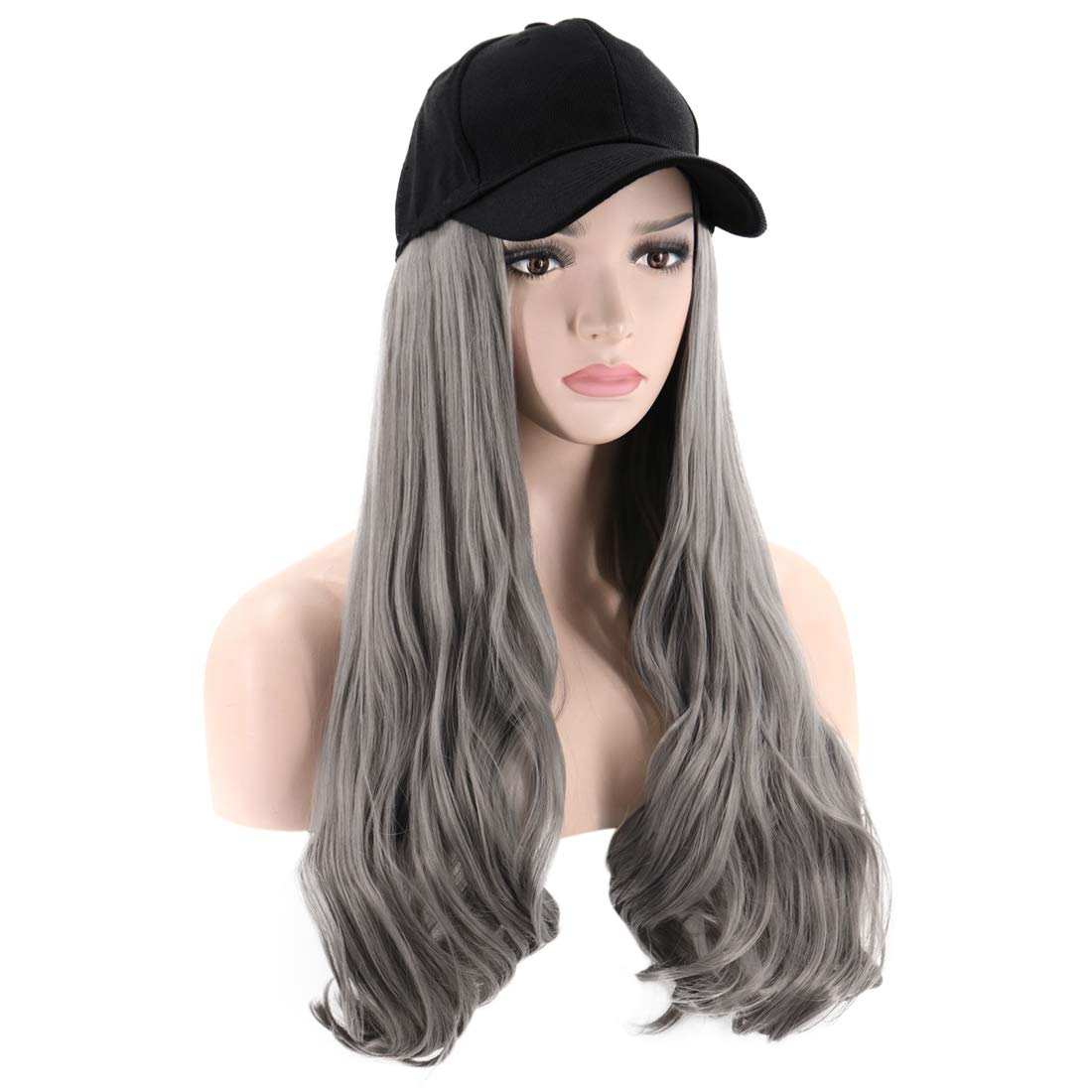 PATTNIUM Hat Wig for Women Max 40% OFF Ranking TOP6 Long with Hair Baseball Curly Cap