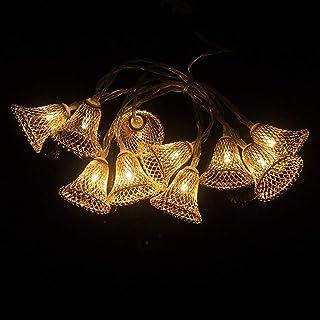Buffer Parti ve Özel Gün Dekorasyonu Çan Şeklinde Metal Şerit Led Işık