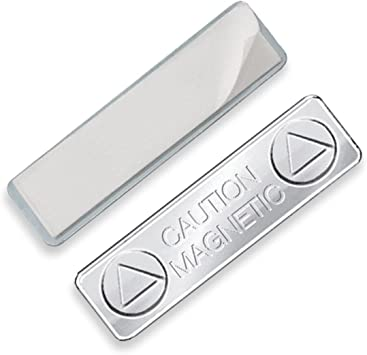 1 Sold Individually Super Strong Magnetic ID Badge Holder Name Tag Backing Attachment with Adhesive by Specialist ID