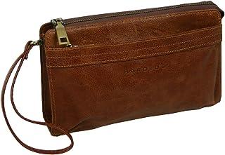HAROLD'S Bolso de mano de piel auténtica con correa extraíble, práctico bolso de mano para hombre de piel suave de alta ca...