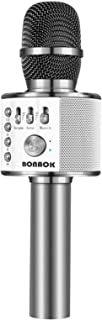 Best BONAOK Bluetooth Wireless Microphone,3-in-1 Portable Handheld Karaoke Mic Speaker Machine Birthday Home Party for Android/iPhone/PC or All Smartphone (Space Gray) Reviews