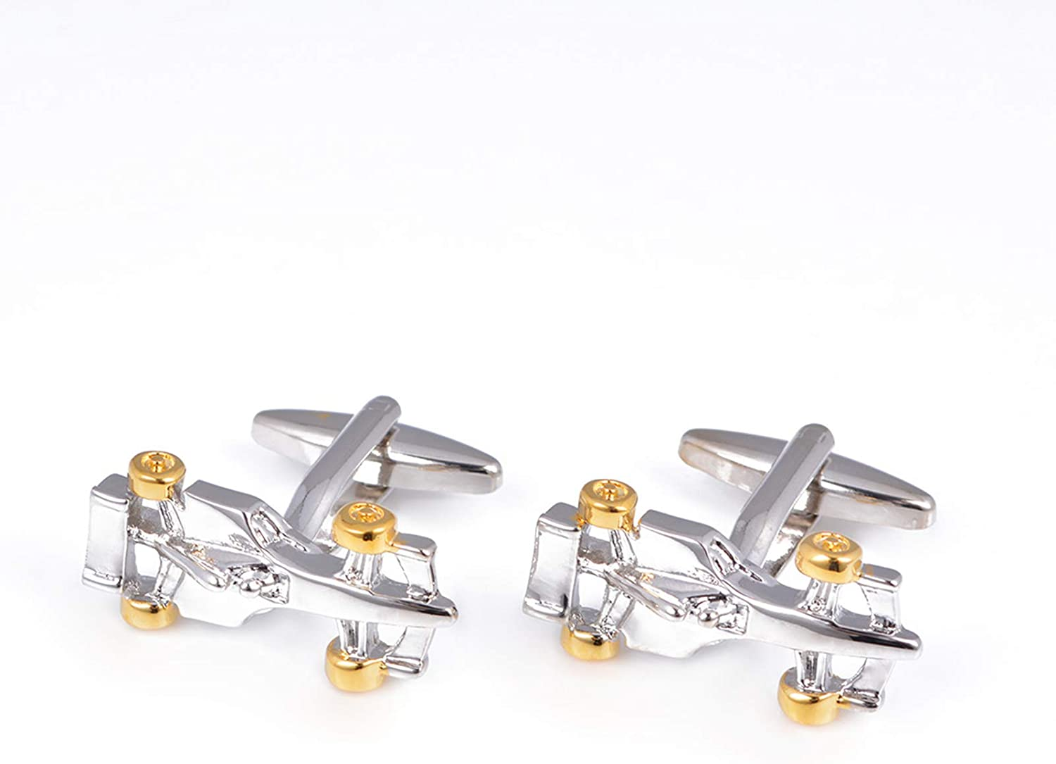 WDDLD Cufflinks Men's Racing Silver Game Style San Antonio Fixed price for sale Mall Cufflink
