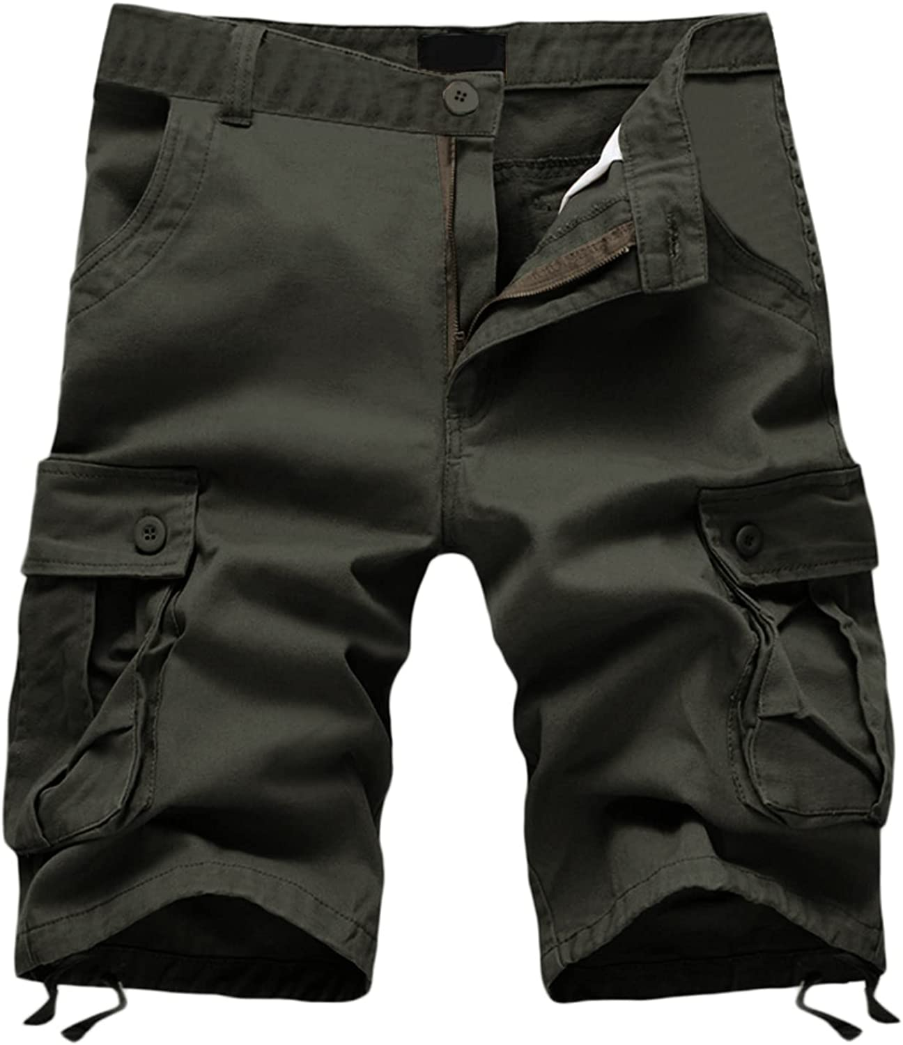 Fees free Mens Fashion Cargo Selling and selling Shorts Solid Strech Classic-fit Casual