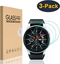HEYUS [3 Pack] for Samsung Galaxy Watch 46mm Screen Protector, 9H Hardness Scratch Resistant Anti-Bubbles Anti-Fingerprint Tempered Glass Protective Film Cover for Samsung Galaxy Watch 46mm