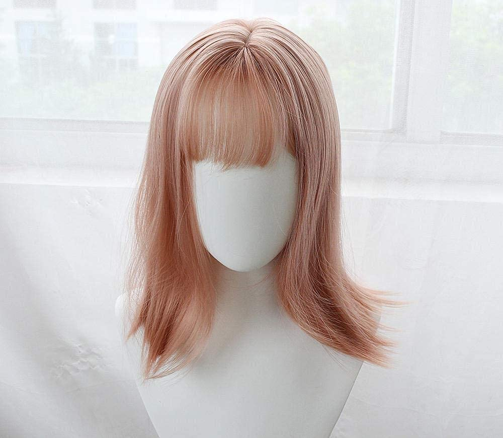 Female long hair clavicle Fixed price New color for sale apricot air sets pink bangs