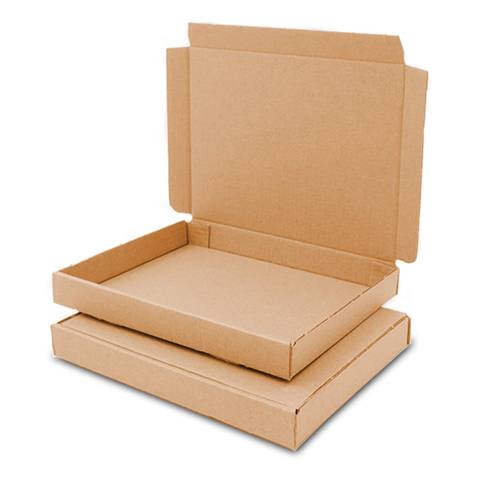 verpacking Grande – 50 Cajas Cajas de cartón marrón, GB-0 165 x 125 x 20 mm Caja Plegable Maxibrief Cartón Marrón o Blanco, tamaño a Elegir: Amazon.es: Hogar