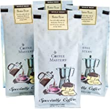 Coffee Masters Flavored Coffee, Butter Pecan, Whole Bean, 12-Ounce Bags (Pack of 4)