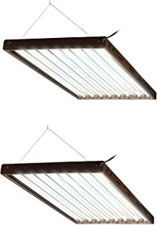 Agrobrite Designer T5 432W 4' 8-Tube Chainable Light Fixture + Lamps (2 Pack)