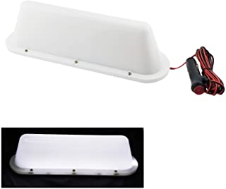 NRC&XRC White LED 12V Car Taxi Cab Roof Top Sign Light Lamp Magnetic with 3m Cigarette Lighter Power Cords