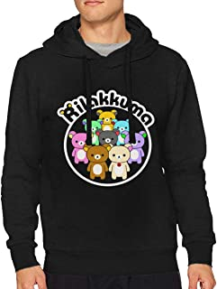 BilliePhillips Men Rilakkuma Classic Drawstring No Pocket Hooded