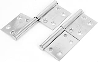 Uxcell a14103100ux0235 Wardrobe Closet Door 3 Length Stainless Steel Flag Type Hinges 4 Pcs Pack of 4