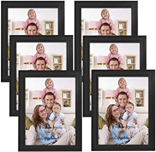 AMERTEER [ Pack of 6 ] Picture Frames Set 4x6, 5x7, 8x7 inches Wood Photo Frame Set for Wall Decor Kitchen, Gallery or Tab...