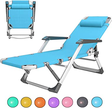 Folding Patio Recliners,550lbs,Zero Gravity Chaise,Lounge Chair for Garden,Wide Armrest,Adjustable Reclining Beach Chairs,7 Colors