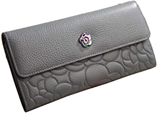 LIMING Women's Multifunction Leather Buckle Wallet Long Section Card Package Coin Purse,Size:19 * 10CM,Colour:Pink (Color...