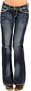 Rock & Roll Cowgirl Womens Riding Boot Cut in Dark Vintage