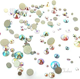 AB EFFECT Colors mixed with Swarovski 2058 Xilion / 2088 Xirius Rose flatbacks sizes ss5, ss7, ss9, ss12, ss16, ss20, ss30 No-Hotfix rhinestones nail art 144 pcs (1 gross) *FREE Shipping from Mychobos (Crystal-Wholesale)*