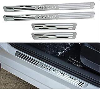 Protezioni Soglia Anti-Usura Trim Sticker Styling Accessorio Lyclyb Auto Posteriore Paraurti Davanzale Battitacco Acciaio Inossidabile per Volkswagen VW T-ROC 2018 2019 2020