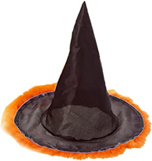 orange and black witch hat