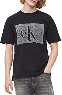 Calvin Klein Jeans Men's MONOCHROME MONOGR AM BOX REG S/S T-Shirts, Black (Black Beauty BAE), Large