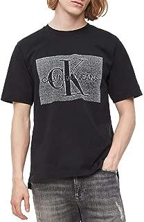 Calvin Klein Jeans Men's MONOCHROME MONOGR AM BOX REG S/S T-Shirts, Black (Black Beauty BAE), Large
