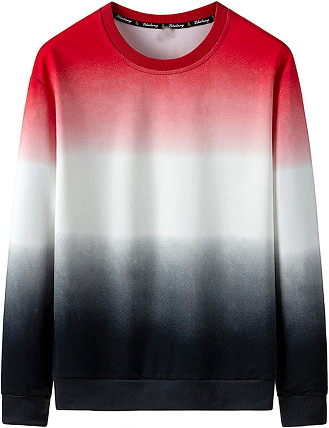 Mens Sweatshirts Crewneck College Casual Novelty Fashion Cozy Pullover Loose Straight Sports Fan Clothing Adult Unisex
