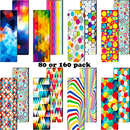 Optical Bookmarks Laminated Book Markers Creative Colored Bookmarks Reading Bookmarks for School Office Teacher Student Classroom Stationery Supply (80)
