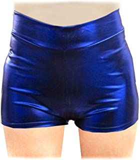SACASUSA TM Sexy Shiny Stretchy Metallic Liquid Wet Look Mini Shorts Hot Pants 10 Colors