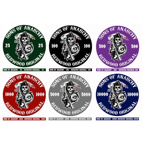 Sample pack fiches Ceramica Sons of Anarchy