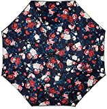 Paraguas invertido con mango en forma de C, a prueba de viento y protegido contra los rayos UV, se...