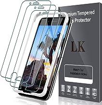 LK Verre Trempé Compatible avec iPhone SE 2020/iPhone 8/iPhone 7/iPhone 6S/iPhone 6, 3 Pièces,Protection écran,Cadre d'installation Facile