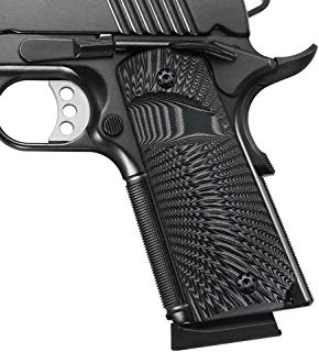 Cool Hand 1911 Full Size G10 Grips, Screws Included, Big Scoop, Ambi Safety Cut, Sunburst Texture
