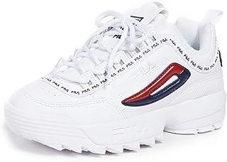 Fila Women's Disruptor II Premium Repeat Sneakers, White Navy Red
