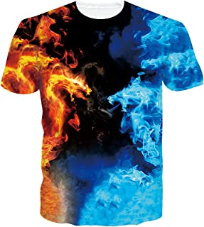 chicolife Unisex 3D gráfico Impreso Verano Casual Manga Corta Camisetas Tees