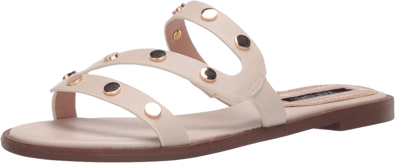 New color kensie Women's Flat Sandal with Slide San Antonio Mall Hardware
