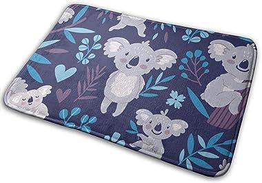 Cute Koala Bears Animals Wildlife Australia Door Mat Rug Indoor/Front Door/Shower Bathroom Doormat, Non-Slip Doormats, 23.6 X