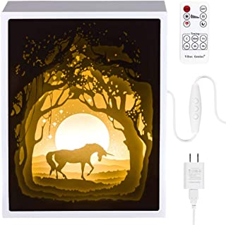 Papercut Light Boxes, Night Light Lamp of Creative Light Paintings - Fairy Butterfly (Unicorn)
